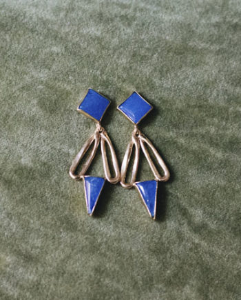 Pendientes Kerala Jade Azul