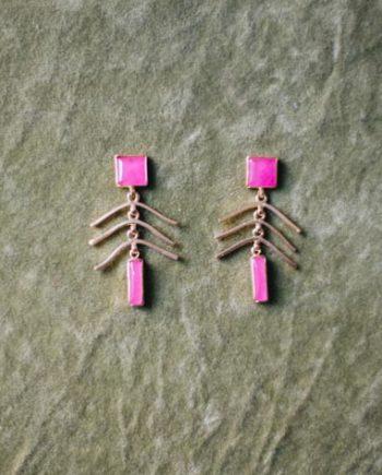 pendientes lima rosa